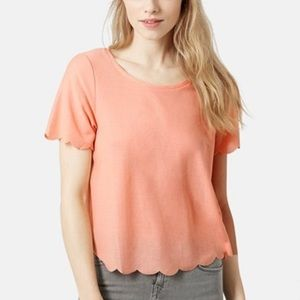 TOP SHOP SCALLOP FRILL TEE 8